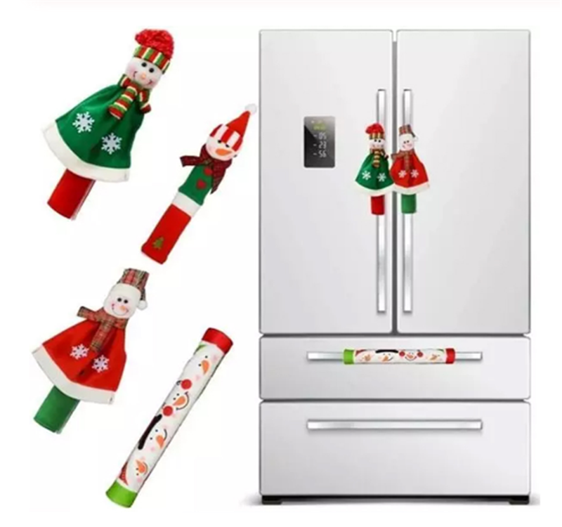 <span class=keywords><strong>Natal</strong></span> Hot Sale Snowman Kulkas Handle Cover Microwave Oven Pencuci Piring Door Handle Penutup <span class=keywords><strong>Natal</strong></span> Dekorasi Pesta