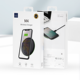 WiWU 10W Qi Wireless Charger Pad LED Light Fast Charging Wireless Charger for i phone Xs Max X 8 Plus