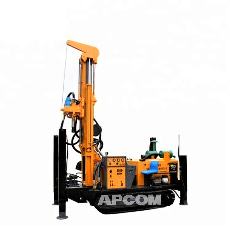 Rock bore hole Tricycle Mobile 200m water well drilling rig Machine Truck Trailer Tractor mounted water well drilling rigs