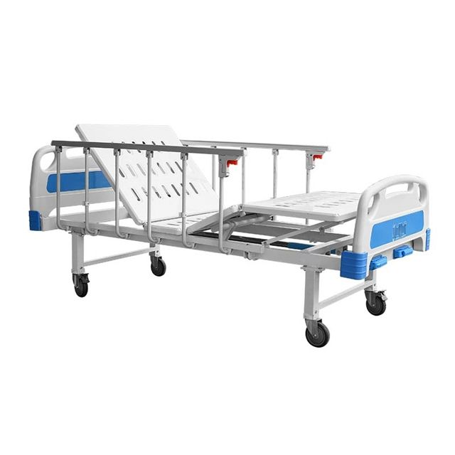 China Medik Manual Two Function Height Adjustable Hospital Equipment Beds Medical Patient Bed 2 Crank For Clinic