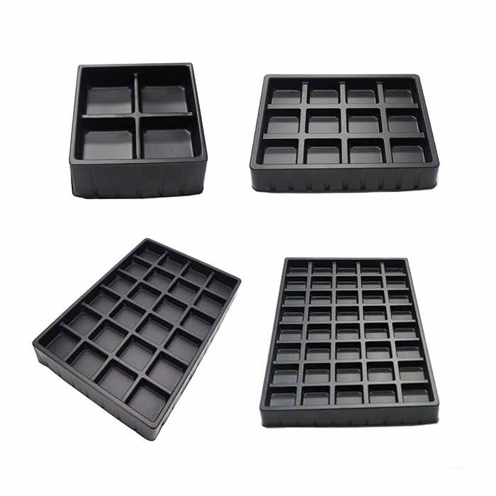 Customized PS Plastic Blister Chocolate Tray 4/12/24/40 Holes Chocolate Packs
