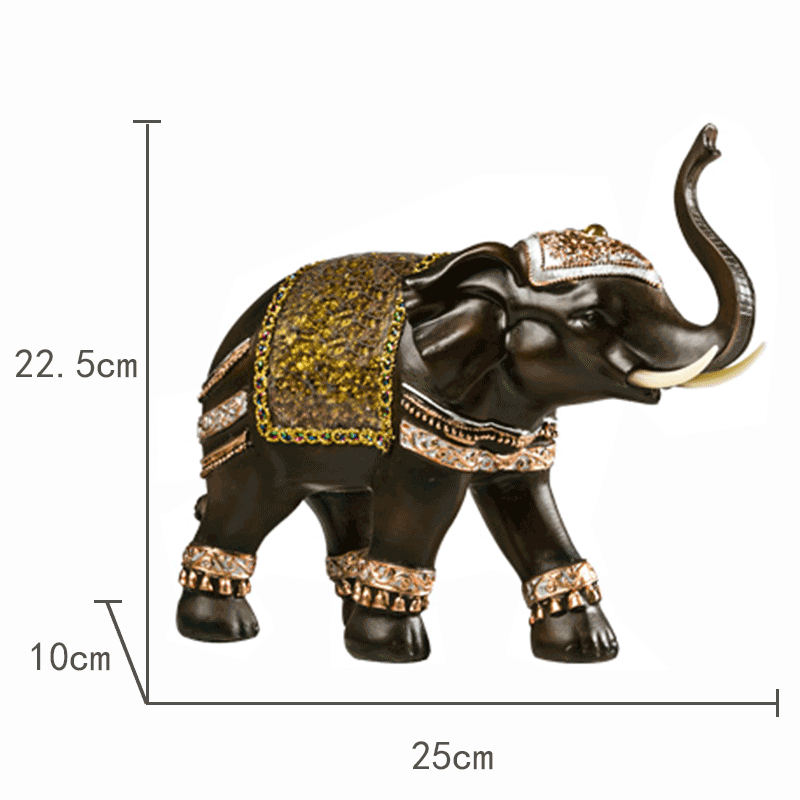 2020 Factory Wholesale Polyresin Glassed Statue Craft Resin Hindu Elephant