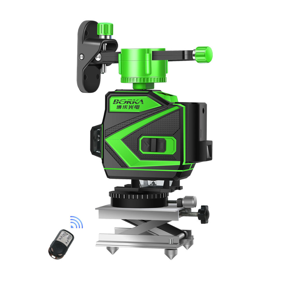 lazer level green beam laser cross 12 line self leveling 3d auto rotary construction nivel laser level 360 degree machine tool