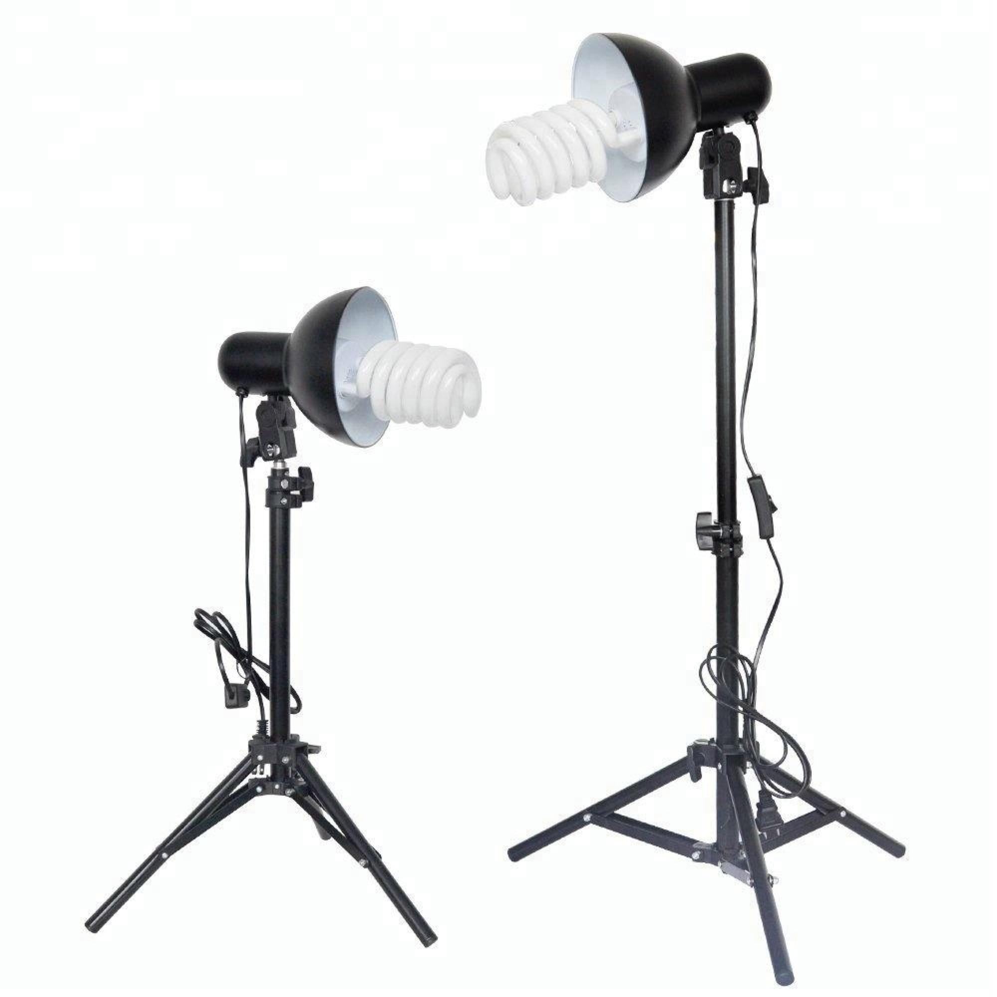 2 Ps01 400ワットStudio Light With Tripod Reflector Daylight Kit For Photography