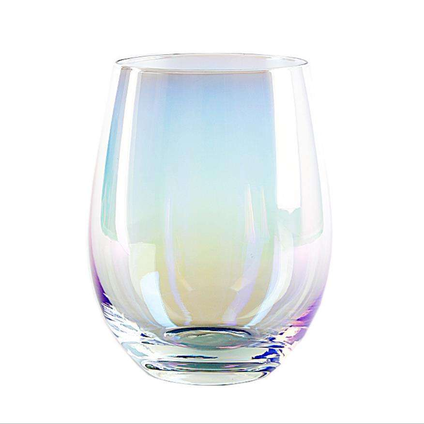 GT-082 Stemless White and Red Wine Glasses Amazon Basics Machine Made Stemless Wine Glass