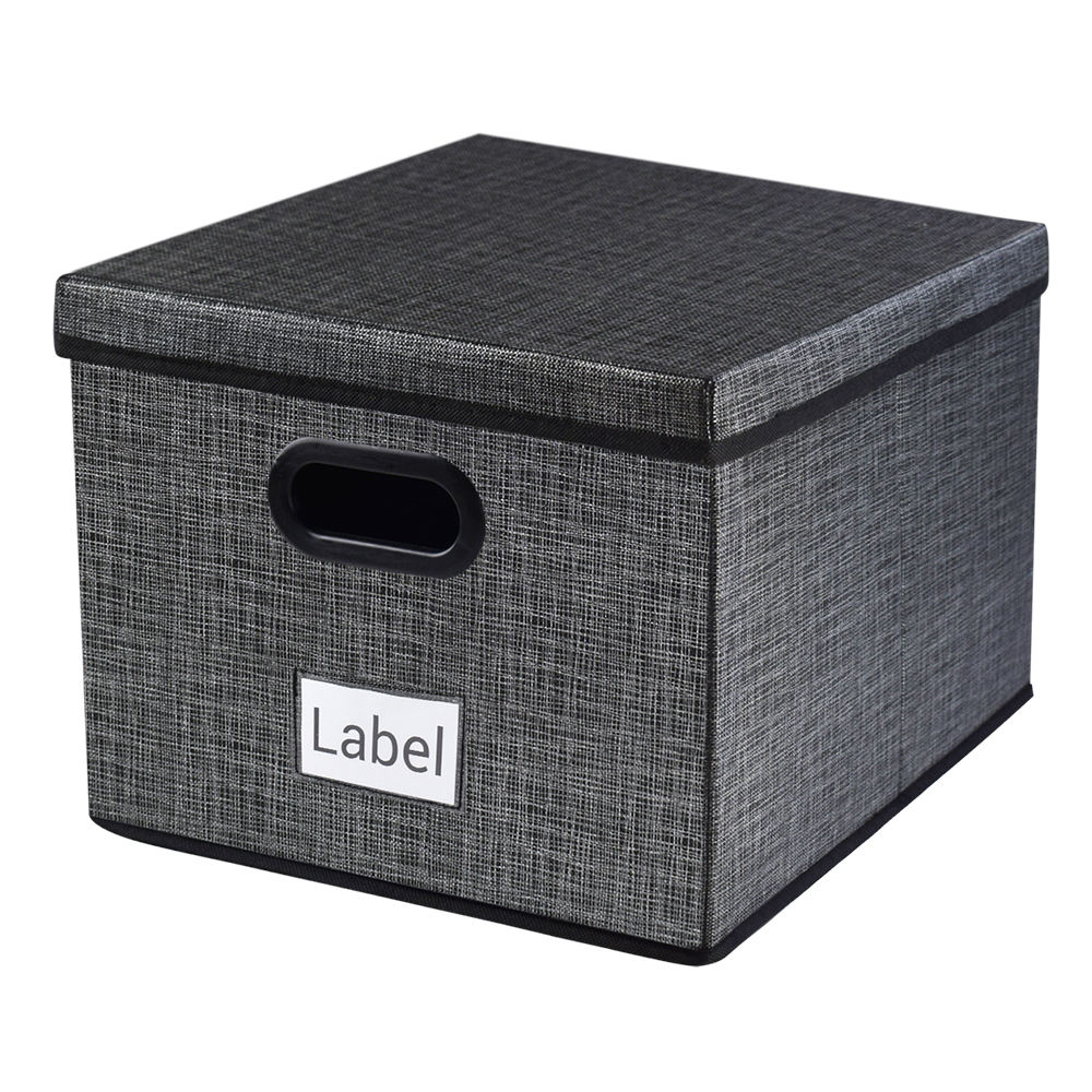 Household Nonwoven Fabric Storage Boxes with Lids and Handles