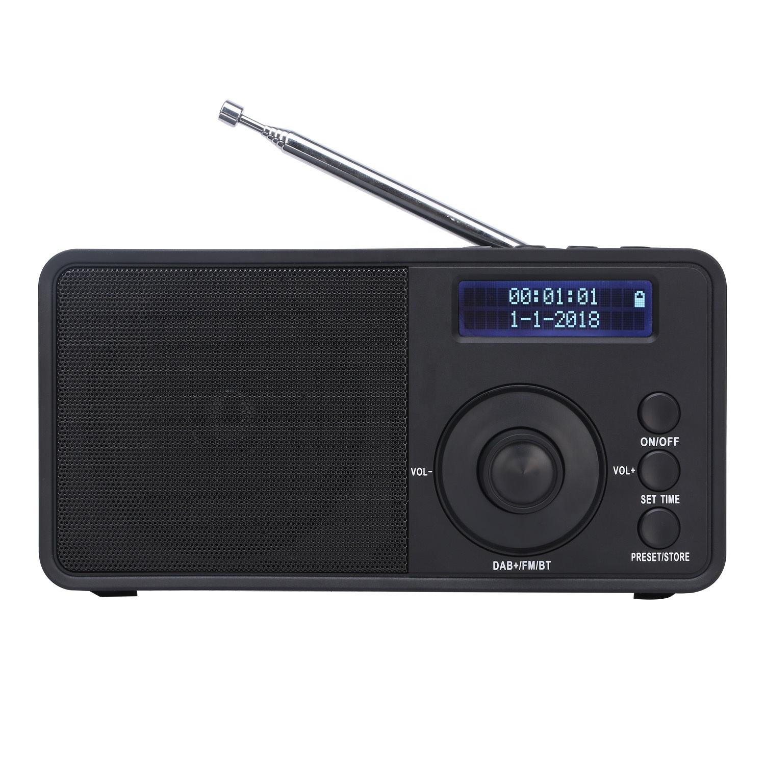 Shenzhen OEM Service Portable Digital Bluetooth DAB+ FM Radio With LCD Display And Speaker