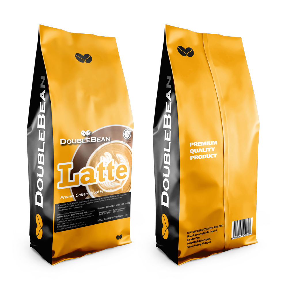 Latte Coffee Mix 3 in 1 Premium Instant Premix High Quality Soluble Cafe Coffee from Malaysia White Coffee Manufacturer