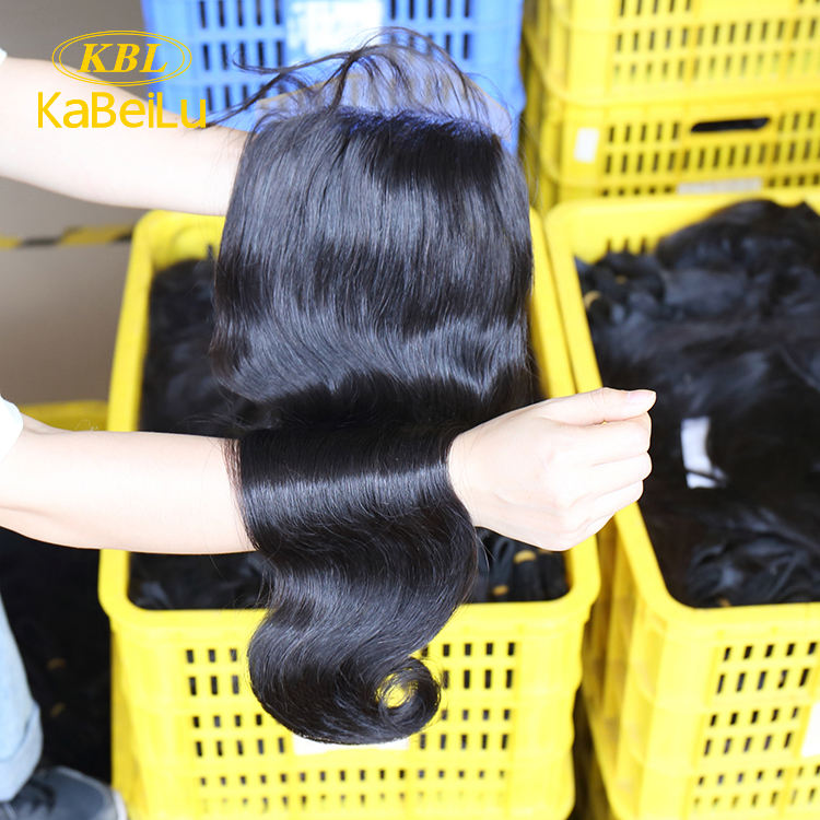 "KBL Cheap Hair Products Body Wave Brazilian Remy Hair 10"" to 20"" 100% Human Hair Swiss Lace Closure Free Shipping"