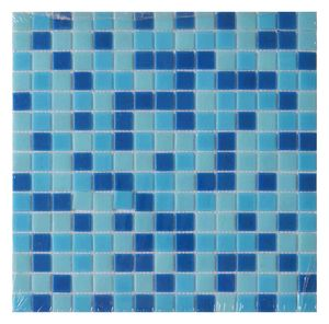 Simple Square Blue Mix Hot Melt 20x20mm Mosaic Tile Glass Swimming Pool