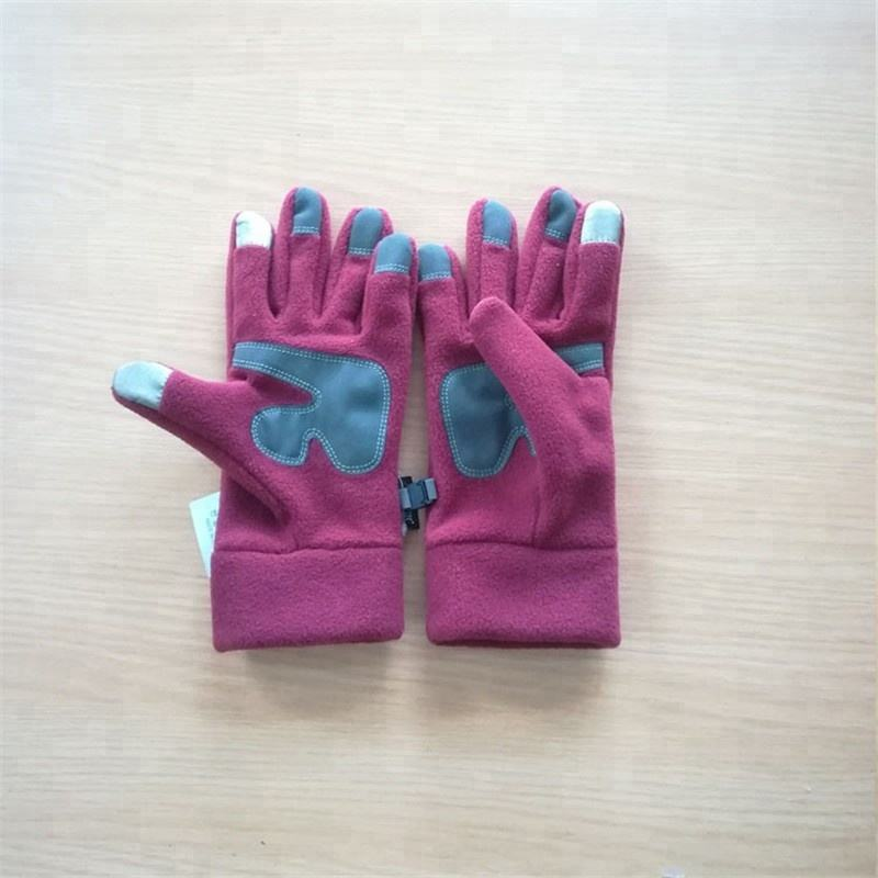 Custom Logo Polar Fleece Gloves New Design Phone Touch Screen Gloves