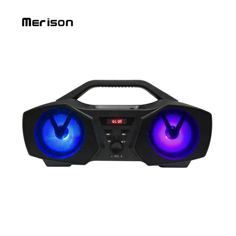 Karaoke Speaker System With Decorative Lights USB TF FM OEM Customized LOGO Subwoofer Wireless Bluetooth Home Theatre System