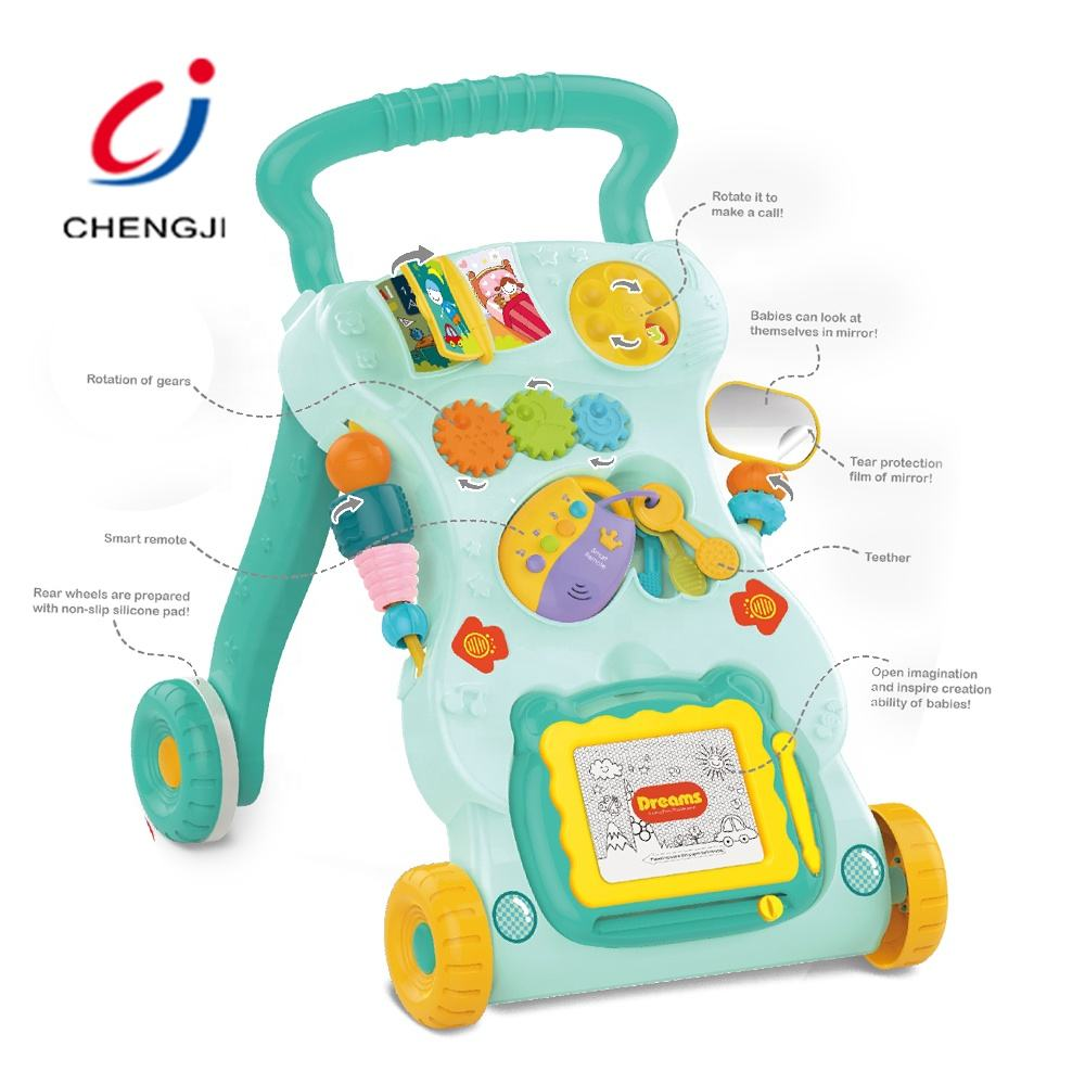 Educational Multifunctional Plastic Baby Walkers Toys, Learning Walking Baby Walkers With Music Low Price