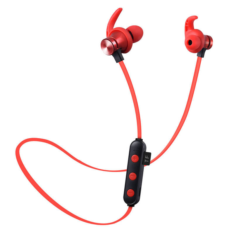 XT22 Magnetic Headphone Neckband BT v4.2 Wired Earphones Sport Headset Wireless Support TF card for Running with package