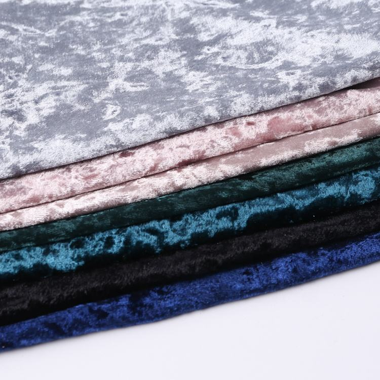 velour polyester crushed soft ice velvet fabric textile for sale online