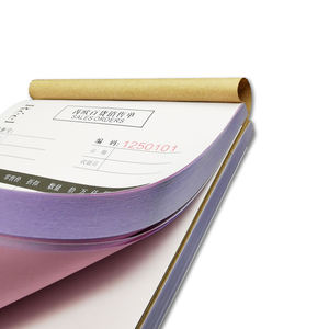 Customized Invoice Bill Receipt Form Login Book Printing With NCR Carbonless Paper