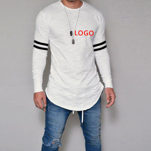 Men T Shirts Striped Printed Long Sleeve T-shirt Autumn Fashion Slim Fit O Neck Tshirt Men Casual Muscle Tee Tops