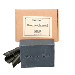 Private Label OEM Natural Organic Face Cleansing Controlling Oil Bamboo Charcoal Cold Process Handmade Soap