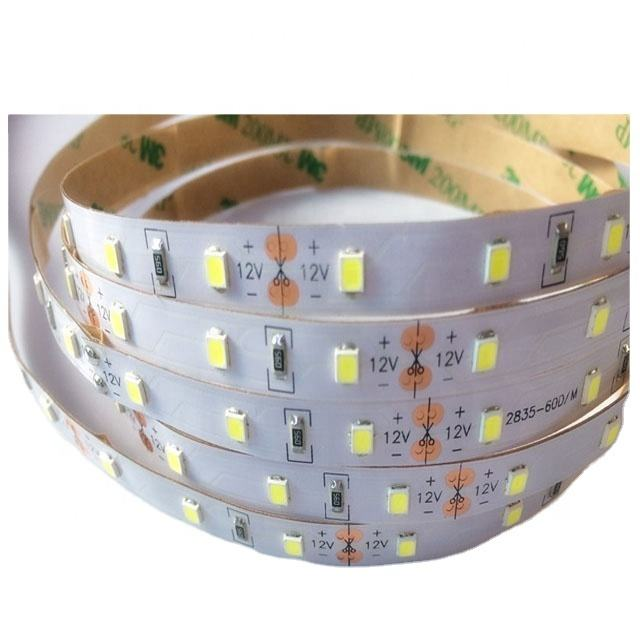 CE RoHS 120 LED per Meter 12/24V Strips Flexible SMD2835 3528 warm white with 2 Years Warranty