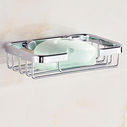 Drainable Wall mounted stainless steel soap case for bathroom Toilet Soap Dishes Holder