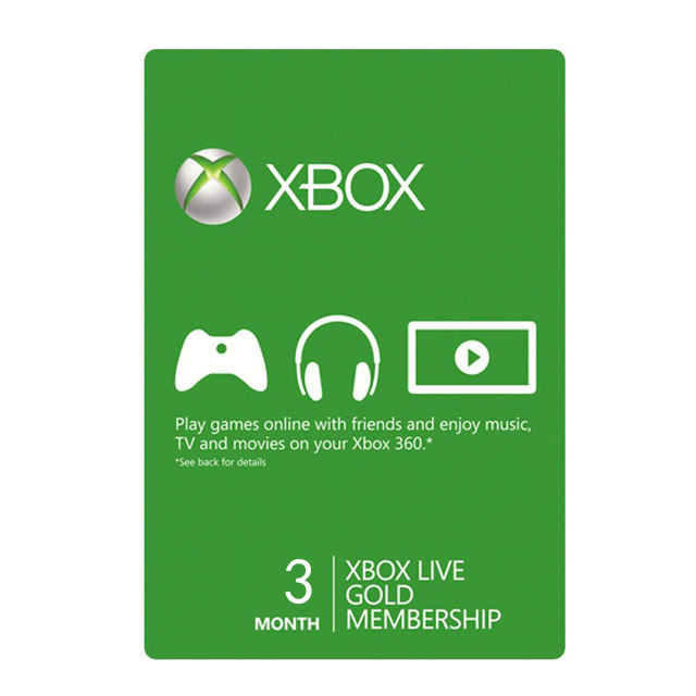 3 mois abonnement <span class=keywords><strong>xbox</strong></span> live gold