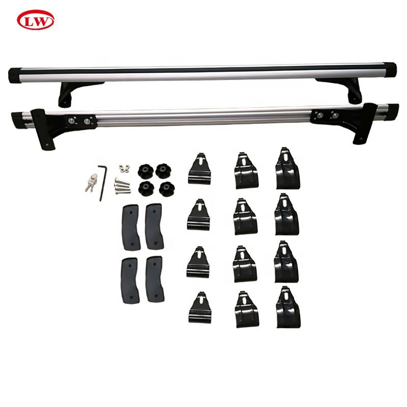 Auto Sul Tetto Rack Barre Trasversali Universale Roof rack Cross bar rails per berlina auto