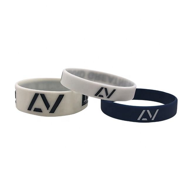 Advertising Customized LOGO Printed Promotional Silicone Wristbands