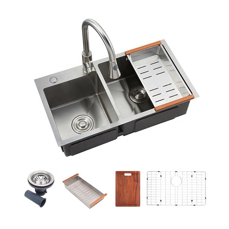 Modern design undermount stainless steel types square china kitchen sink design