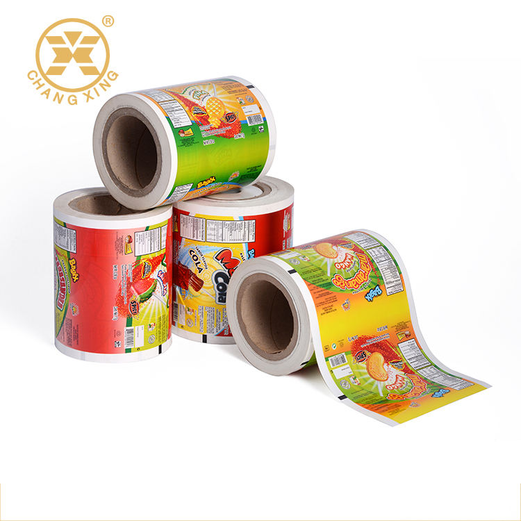 bopp/pet/mylar/pe Laminating Film in Roll with Custom Logo Design Printed For Snack Cookies Packaging