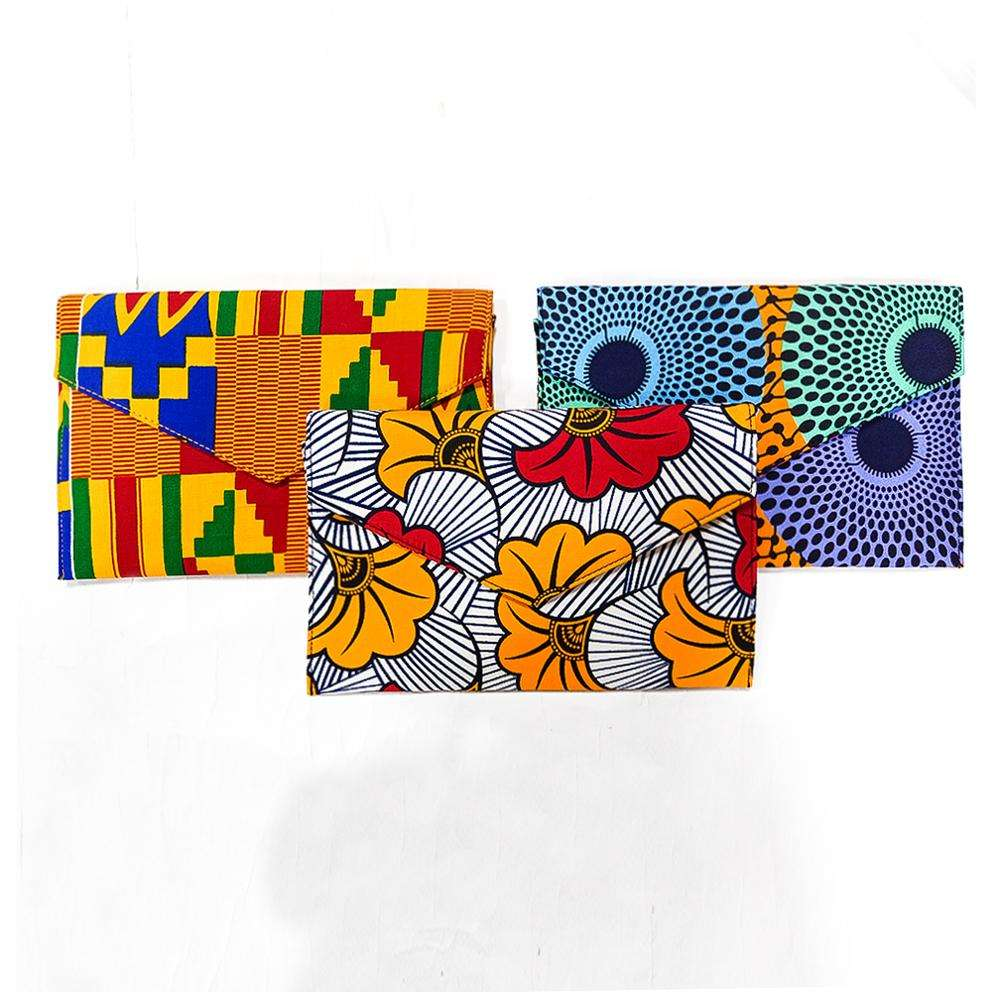 2019 Fashion new arrivals women bags handmade African print envelop handbags wholesale
