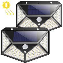 100 LED Outdoor Wireless Waterproof Motion Sensor Solar Light for Garden