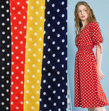 WI-A07 China wholesale stock lot polyester 6mm polka dot chiffon fabric for dress and scarf