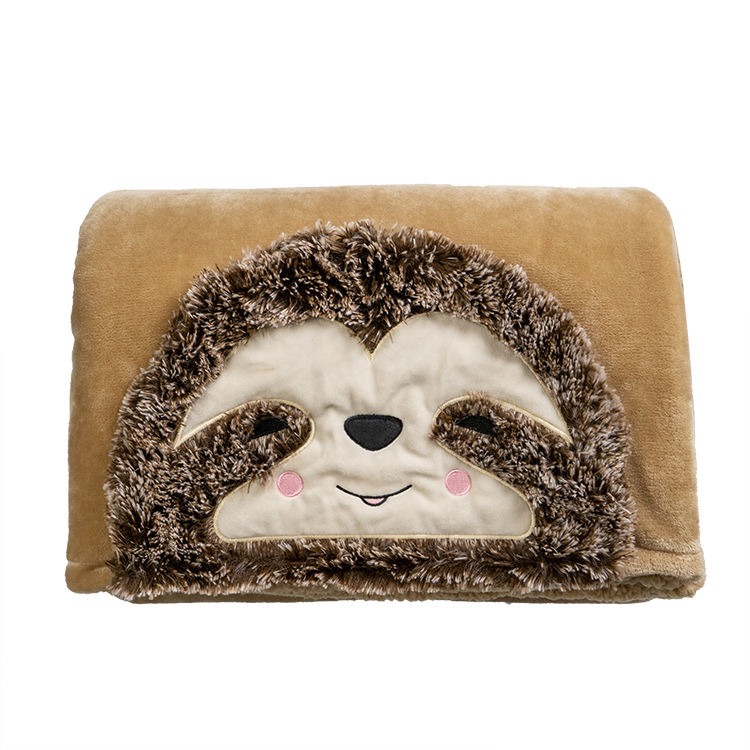 New product sherpa hooded blanket hood blanket sweatshirt Sloth Hooded Blanket