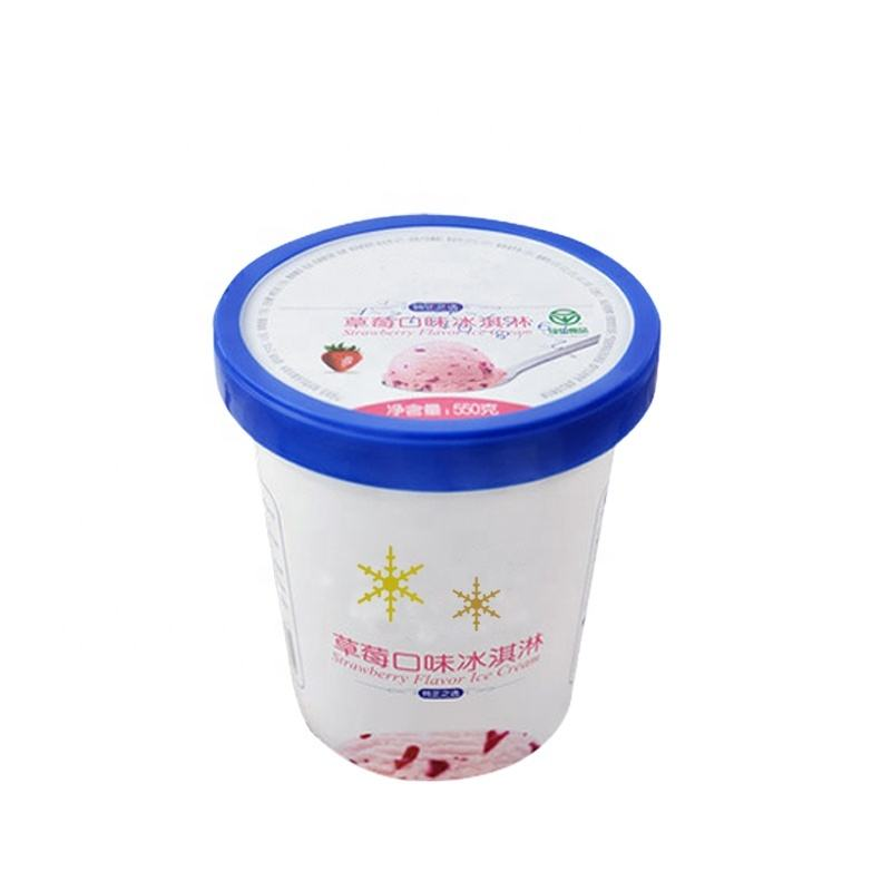 900ml IML PP disposable ice cream cup with lids plastic