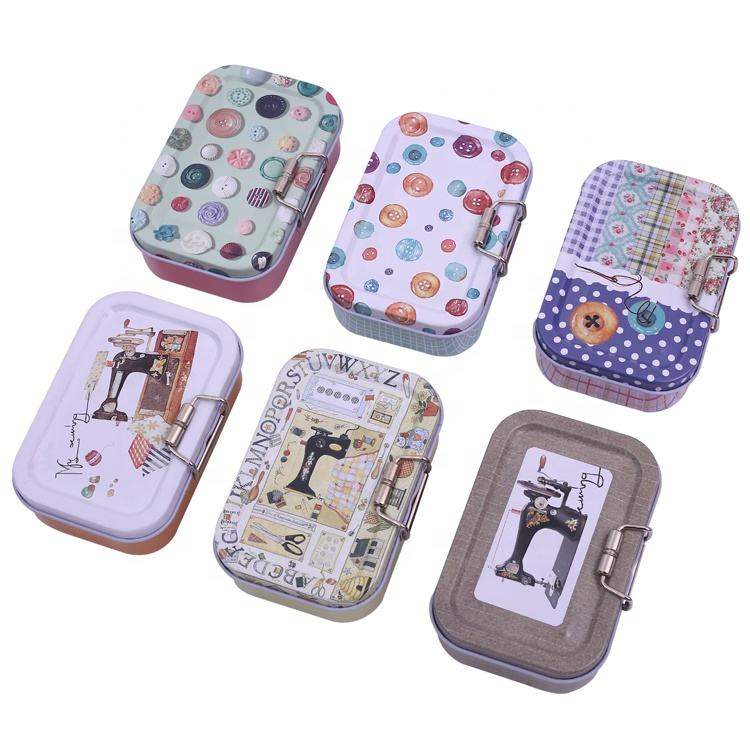 Wholesale mini tin box travel sewing kit