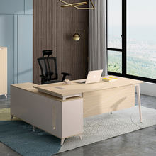 Custom  Fashionable luxury wooden office furniture l shaped executive office desk