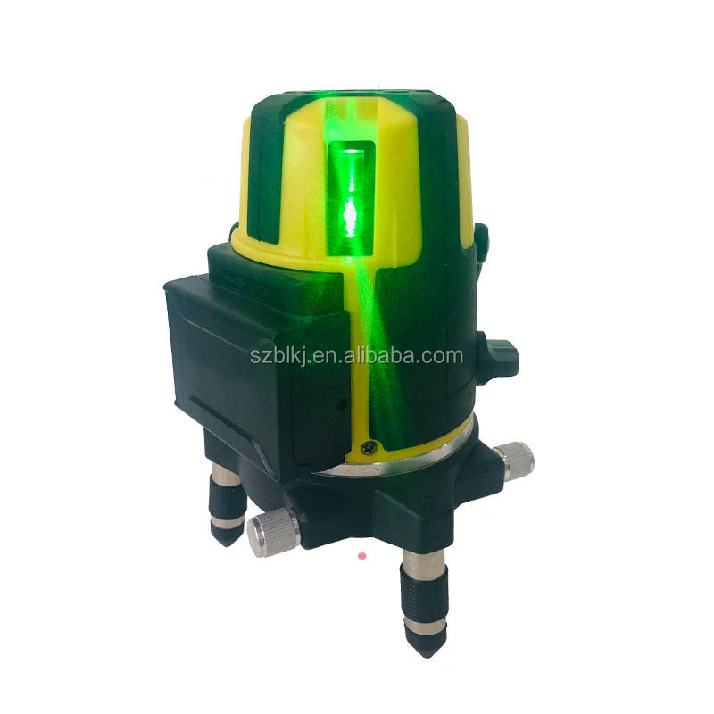 Green Beam Multi-Line Laser Level Four Vertical and One Horizontal Lines with Down Plumb Dot Alignment Self-leveling Laser Level