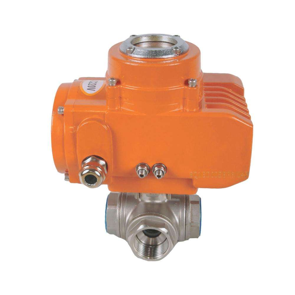 Dn15 3 WAY Thread Electric Motorized Ball Valve 1000WOG