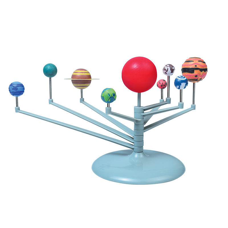 Solar planet system astronomy teaches nine planetary models educational DIY doodle children's toys