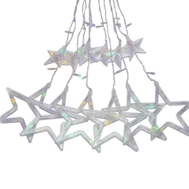 2020 New Arrivals PVC Shell Material Window Twinkle Star 138 Led Window String Curtain Light For Room