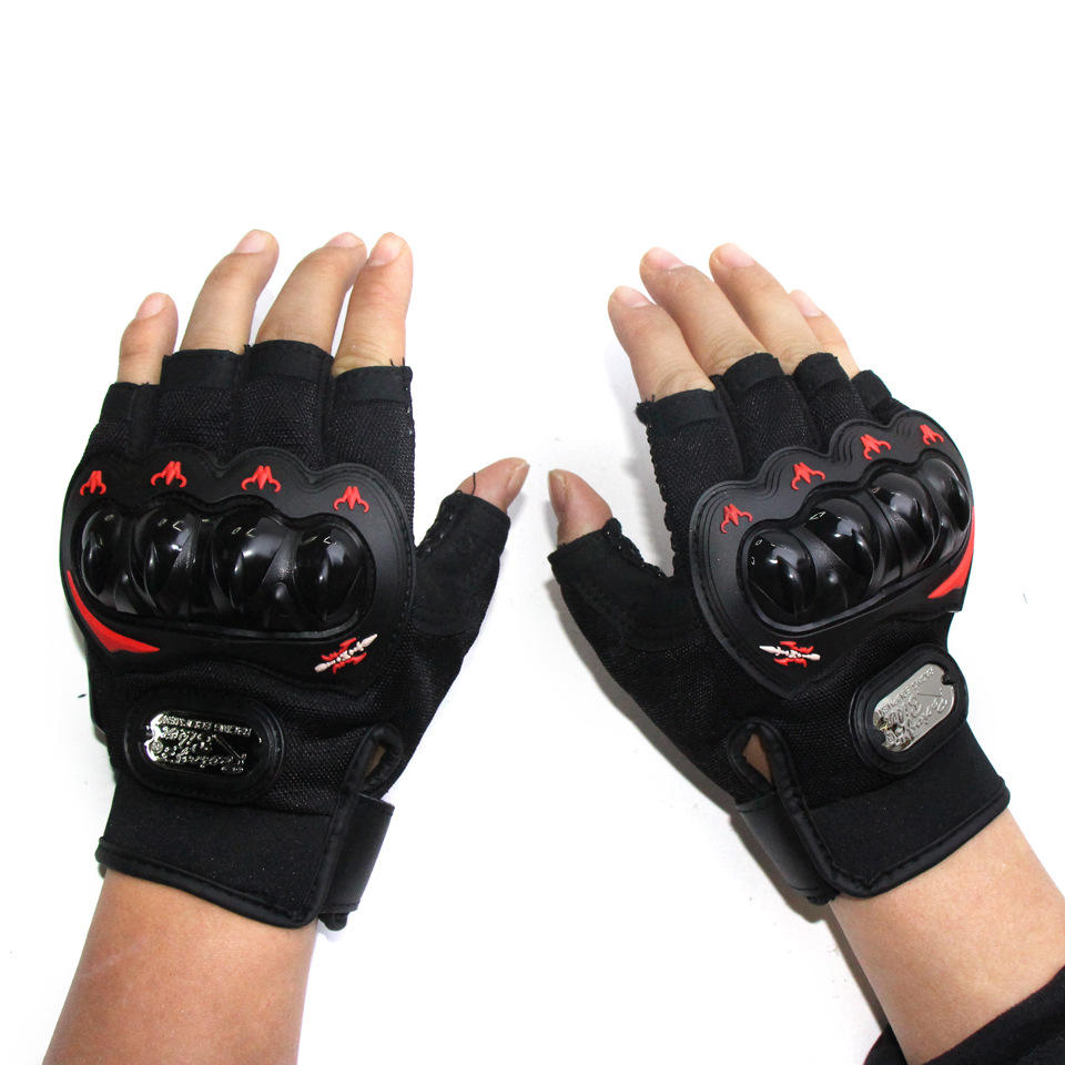 Hard Knuckle Motorcycle Half Finger Racing Mountain Bike Bicycle Cycling Bike Gloves