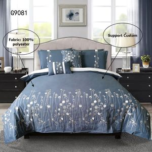 Classic design 100% polyester microfiber home bedding embroidery patchwork duvet cover set