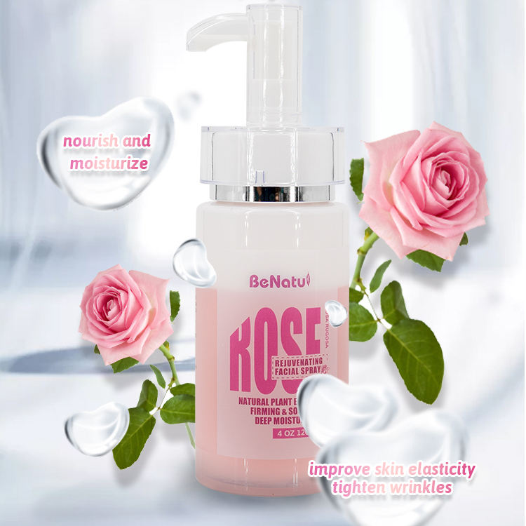 200ml rose facial spray improve skin elasticity and nourish and moisturize for women organic rose water