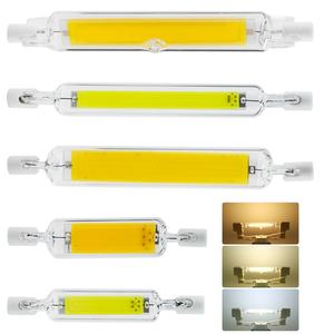Dimmable R7S LED 118mm 78mm COB Light Bulb Glass Tube Floodlight 6W 12W 25W J78 J118 Halogen Lamp Replacement 110V 220V