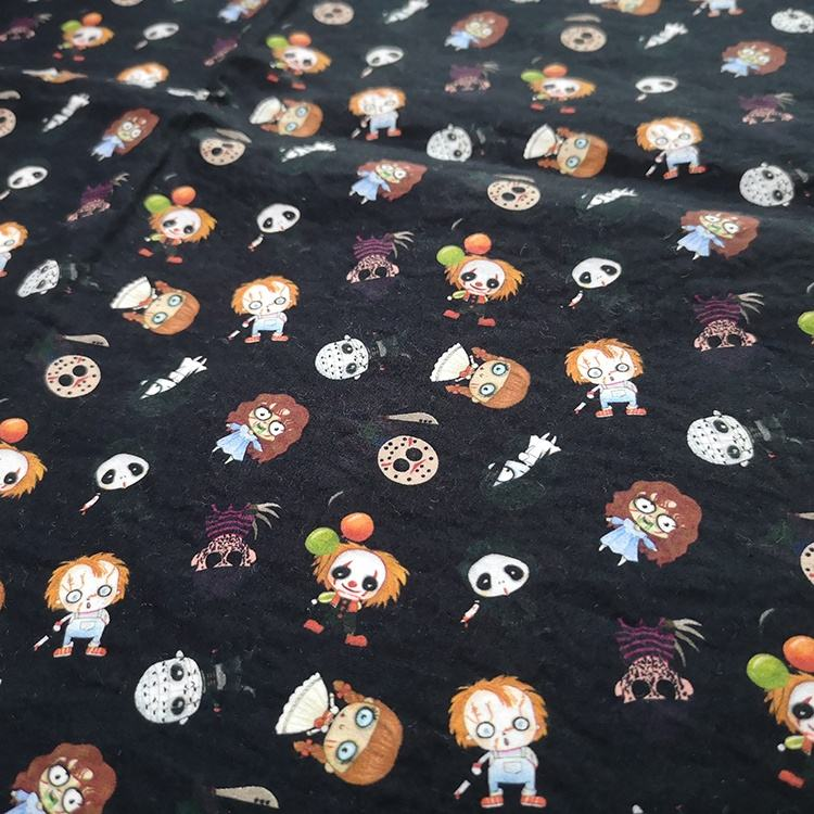 135gsm Printed Halloween Poplin Custom Printing 100% Cottons Digital Print Cotton Fabric