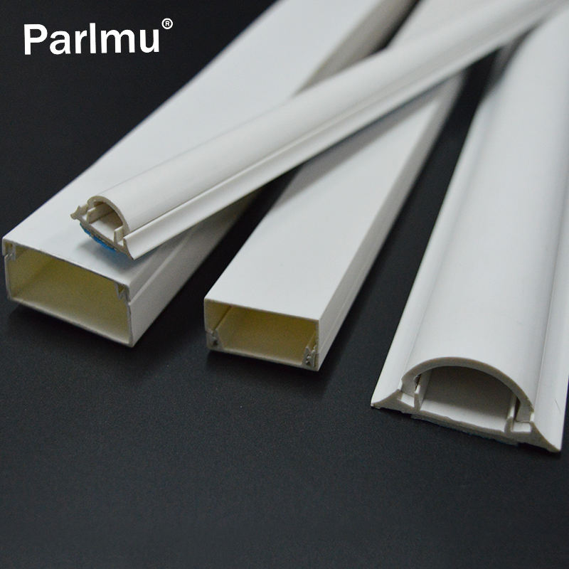 Pvc plastic half moon cable channel wire duct white cable trunking
