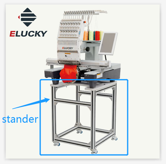 2016 Elucky Computerized single head embroidery machines with prices with 7