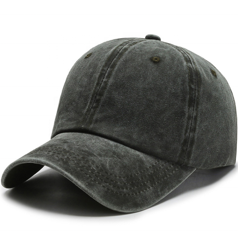 Custom logo breathable 6 panel waterproof washed dad baseball cap