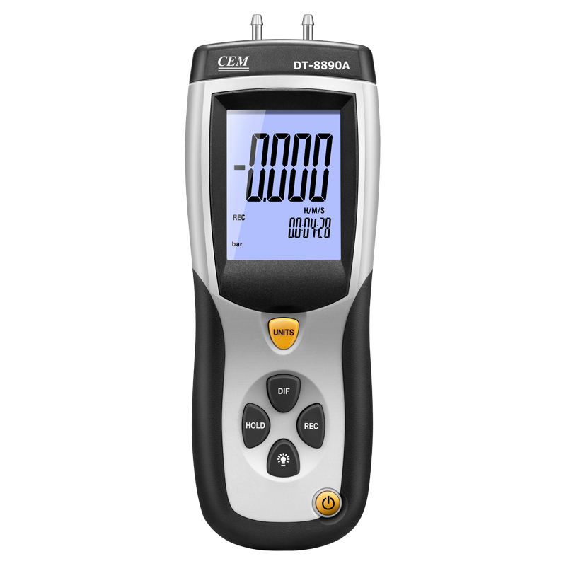 CEM DT-8890 Room Lab Factory Tube Digital Air Pressure Meter Gauge Differential Pressure Manometer