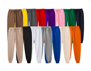 OEM Wholesale fashion trackpants 13 colors blank sweatpants custom jogging pants printing plain fleece nude sweat jogger men